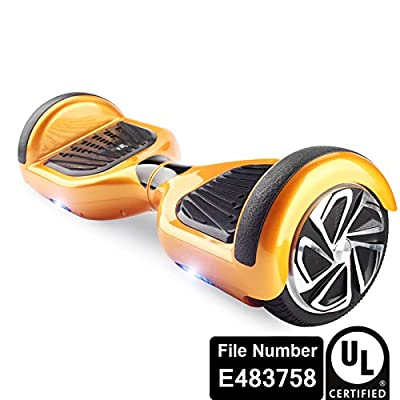 UL2272 Certified Smart Self Balancing Hoverboard Personal Adult Transporter with LED Light- Gold from Shenzhen IMUSE Technology Ltd