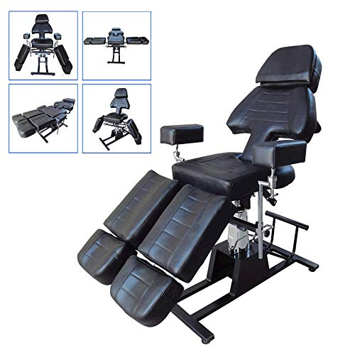 DNNAL Multifunction Hydraulic Adjustable Tattoo Chair Beauty Body Bed Medical Shaping Bed Dedicated SPA Salon Massage Chair