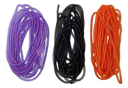 Deco Mesh Tubing (3 Packs, Purple, Black, Orange)