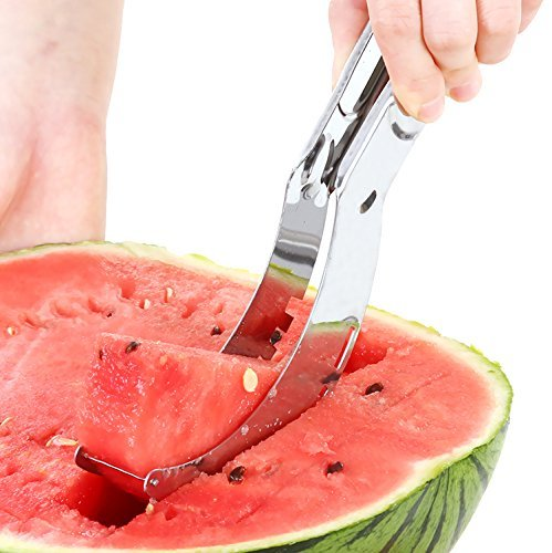 7TECH Watermelon Slicer , Easy Slice Fruit Kitchen Tool,Stainless Steel Melon Baller Fruit Carve Knife & Fruit Peeler Faster Melon Cutter by 7TECH