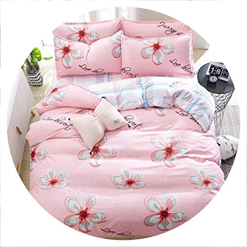 Secret-shop Birthday Present Duvet Cover Flat Bed Sheet Linen Pillowcase Bedding Sets Full King Twin Queen Size 3/ 4pcs,F26,Queen Cover 200by230