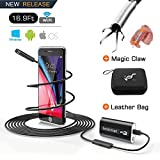 Endoscope Borescope Inspection Camera Snake Camera Wireless WiFi Waterproof with 24'' Flexible Grabber Pick-up Tool 4 Finger Claw Retriever 720P HD 2.0 MP for Android,IOS,iPhone 14.9 FT (5M) (Black-5M)