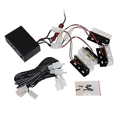 AMZVASO 12V Emergency Warning Recovery Strobe LED Lights Grill Breakdown Flashing Beacon white