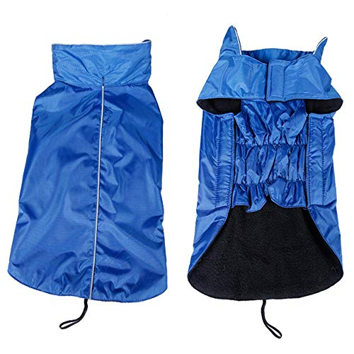 RSHSJCZZY Pet Windproof Waterproof Coats Reversible Reflective Soft Costumes Dog -