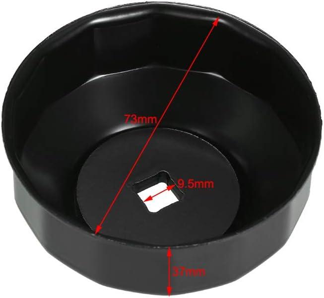 KKmoon 76 mm x 15 FL Cl/és /à Filtre /à Huile Outil de Retrait de Capuchon de Type /à Douille de Cl/é /à Huile