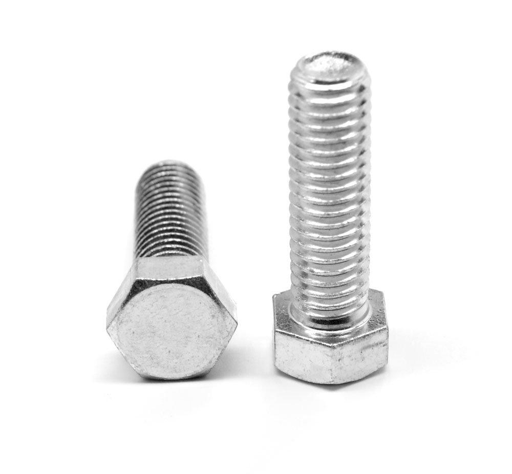 5/16''-18 x 2 1/2'' (FT) Coarse Thread A307 Grade A Hex Tap (Full Thread) Bolt Low Carbon Steel Zinc Plated Pk 100