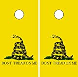 C213 Dont Tread On Me CORNHOLE WRAP WRAPS LAMINATED Board Boards Decal Set Decals Vinyl Sticker Stickers Bean Bag Game Vinyl Graphic Tint Image