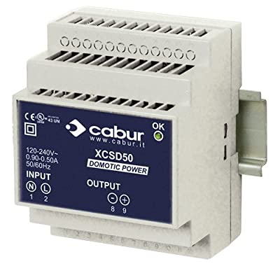 ASI XCSD50B Compact DIN Rail Mount Power Supply, 12 to 15 VDC, 50W, 3.5 amp Output, 90 to 264 VAC Input, Class 2 Isolation