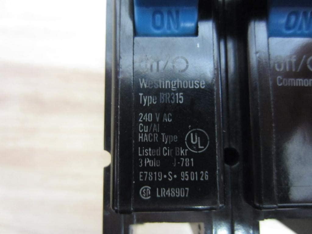 NEW WESTINGHOUSE BR315 3 POLE 15 AMP PLUG-IN CIRCUIT BREAKER