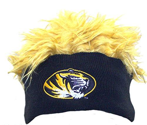 (Concepts Sport Mizzou Tigers Single Color Faux Fur Flair Hair Flair Beanie)