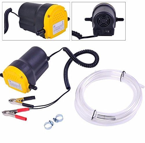 Karcy 12V 5A 60W DC Compact Motor Oil Diesel Extractor Scavenge Suction Transfer Change Pump Kit for Multiple Equipment by Karcy (Image #1)