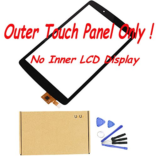 UoUo New Touch Screen Panel Glass For LG G Pad F 8.0 V495 UK495 Repair Replacement