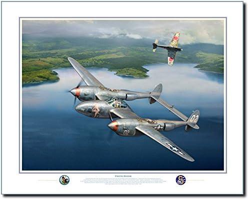 Lightning Aviation Art Print by Jack Fellows P-38 Lightning