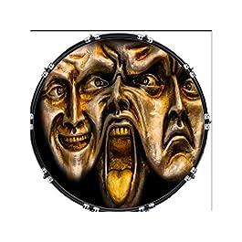 Custom Aquarian 22″ Bass Kick Drum Head Front Drumskin Mixed Faces