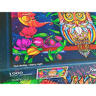 JaCaRou Puzzles Starry Night 1000 Pieces Jigsaw Puzzle: Toys & Games
