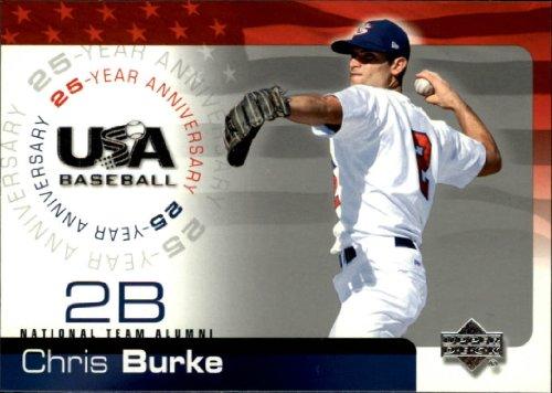 (2004 USA Baseball 25th Anniversary #30 Chris Burke Baseball Card)