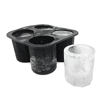 Molde de silicona para cubitos de hielo, para hacer vasos de chupito, hielo,