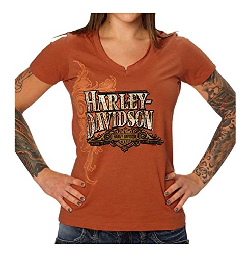 Harley Davidson Womens Embellished Sunset Notched