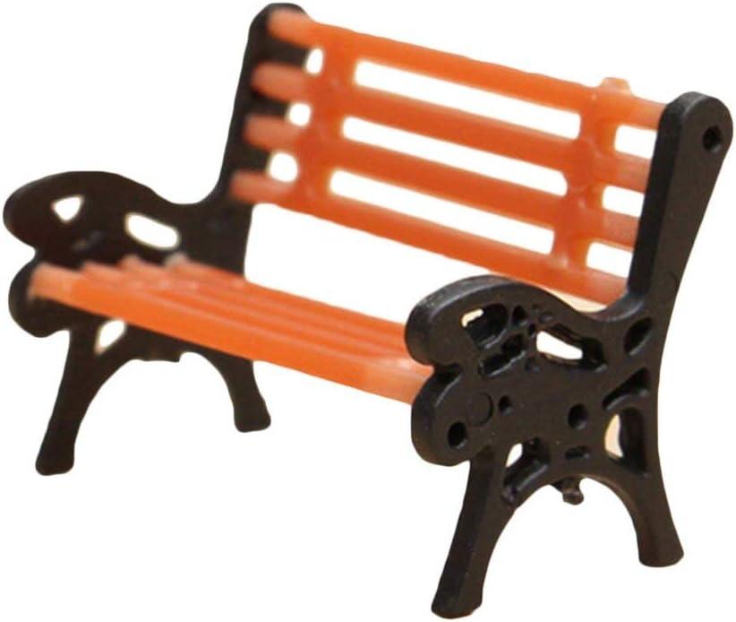 1x Micro decoración de Paisaje Banco de Parque Figuras en Miniatura de plástico Ornamentos artesanales para Bonsai Musgo Plantas suculentas jardín DIY decoración (pequeña) Large: Amazon.es: Hogar