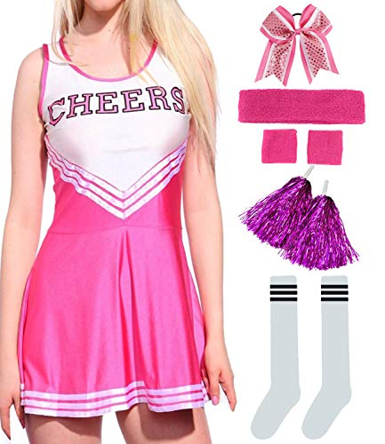 Women Musical Cheerleader Costume Uniform Fancy Dress Set ()