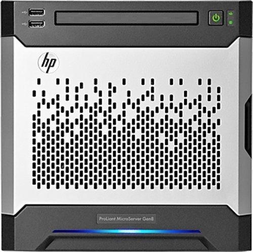 Servidor HP ProLiant MicroServer 8th Gen Intel Celeron G1610T Dual-Core a 2.3 GHz, 4GB de RAM, Matrox G200 Gris y Negro