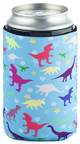 Funny Guy Mugs Dinosaur Collapsible Neoprene Can Coolie - Drink Cooler