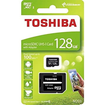 Tarjeta Micro SD Toshiba THN-M203K1280EA 128 GB: Toshiba ...