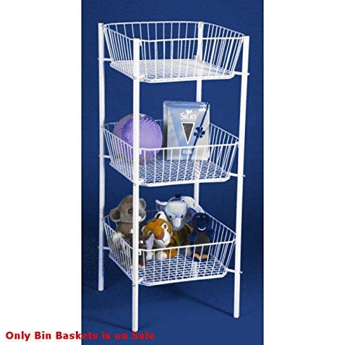 New Retails White Triple Bin 6'' Deep Baskets 47''H x 19''W x 19''Deep by Triple Bin Baskets