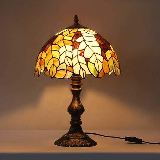 LED Lampara Mesilla De Noche, Tiffany Style Lámparas De Mesa ...