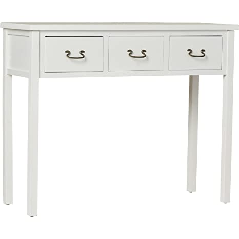 hot sale online 751d8 32a2c Robinwood 3 Drawer Console Table, American Style (White ...