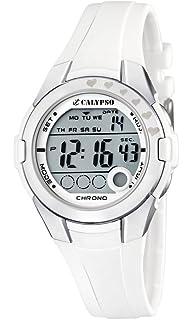 Calypso K5571/1 - Reloj para niños de cuarzo, correa de plástico color blanco