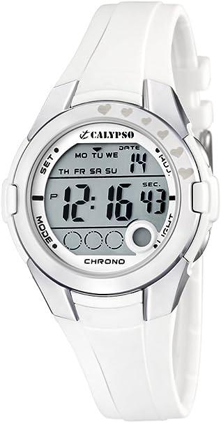 Calypso Reloj Digital para niña de Cuarzo con Correa en Plástico 324D: Amazon.es: Relojes