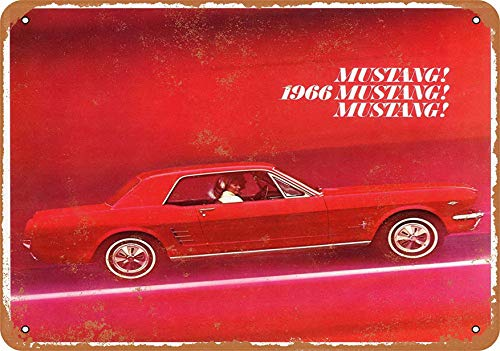 F-More Business Banners 8 x 12 Metal Sign - 1966 Ford Mustang - Vintage Look Reproduction Prints for Sale Online]()