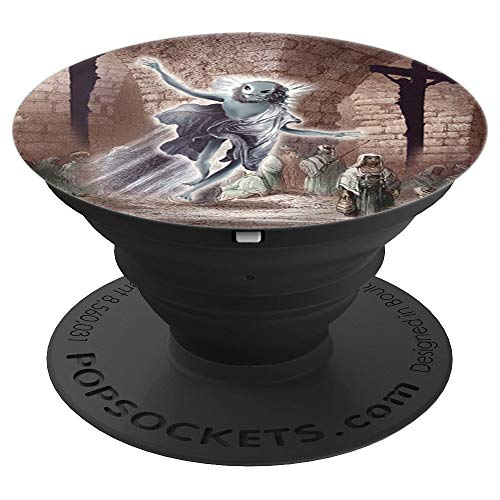 Alien Jesus Jerusalem Cross - PopSockets Grip and Stand for Phones and Tablets