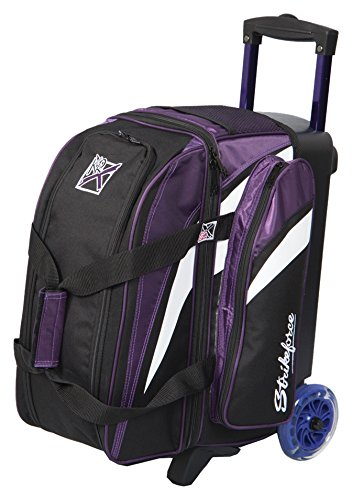 KR Strikeforce Cruiser Smooth Double Roller Bag, Purple/White/Black