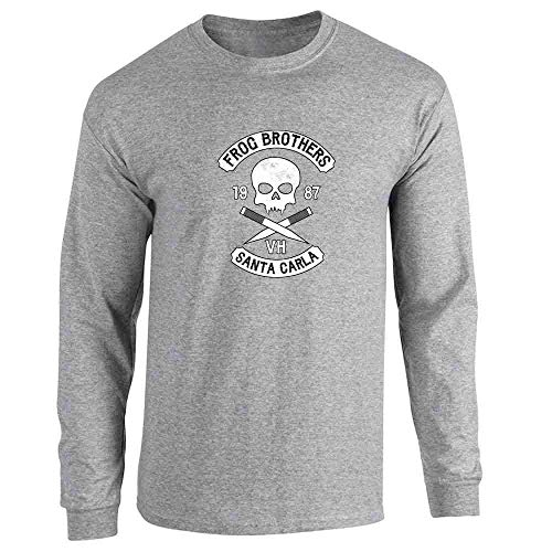 Frog Brothers Santa Carla Halloween Costume Horror Sport Grey 2XL Long Sleeve T-Shirt -