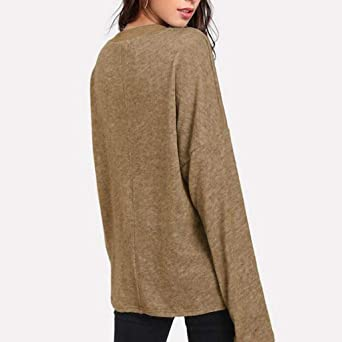 Amazon.com: Mililian camisetas para mujer, moda de color ...