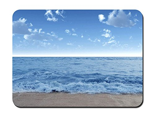 (Waves on Sandy Beach Beach - #39969 - Mouse Pad Customized Rectangle Non-Slip Rubber Mousepad Gaming Mouse Pad 10.24x8.27 inches)