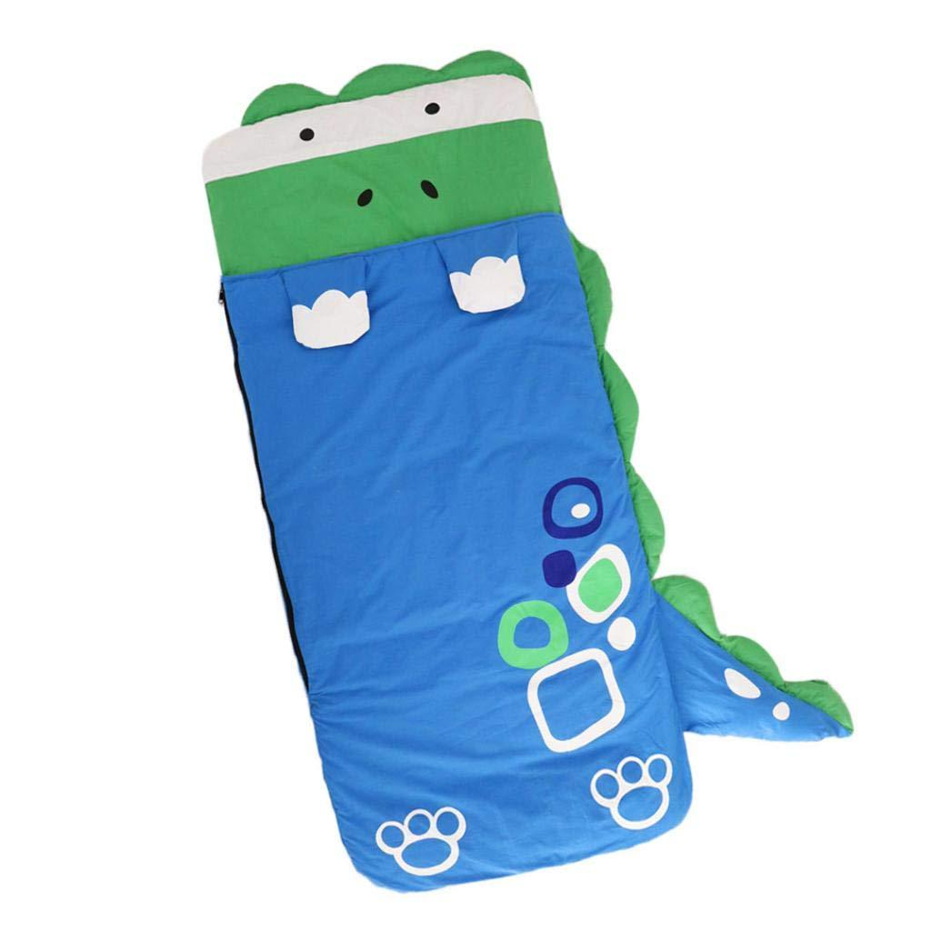 Crocodile Fityle Kids Cartoon novelty sleeping bag 130x59cm Great for sleepovers//camping 130 * 59cm