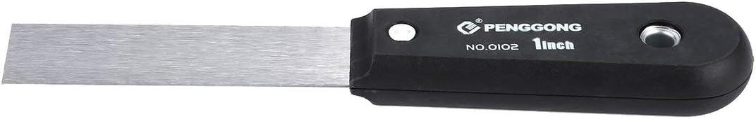 Tragbares multifunktionales Edelstahl-Spachtel-flexibles Trockenmauer-Anstrich-vergipsendes Schaber-Maler-Werkzeug Farbe: Silber u. Schwarzes Gr/ö/ße: 1 Zoll