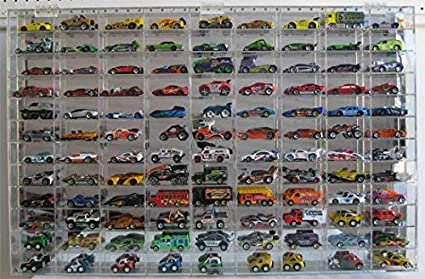 9dc8a516 1:64 Scale Toy Cars Wheels Display Case Wall Cabinet Rack 108 Compartment,  Clear, UV Protect Hot-AHW64-108