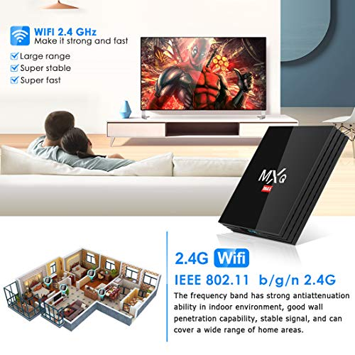Android 8.1 TV Box, Superpow Smart TV Box Quad Core 4GB RAM+64GB ROM, BT 4.1, 4K*2K UHD H.265, HDMI, USB...