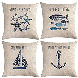51zsjqazRjL._SS300_ 100+ Nautical Pillows & Nautical Pillow Covers