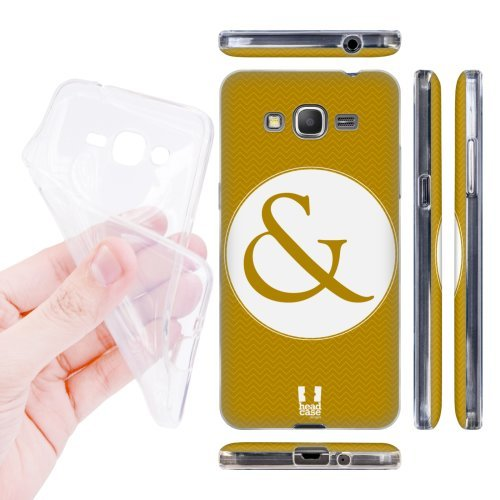 Head Case Designs Gold Ampersand Love Soft Gel Back Case Cover for Samsung Galaxy Grand Prime 3G 4G Duos LTE G530