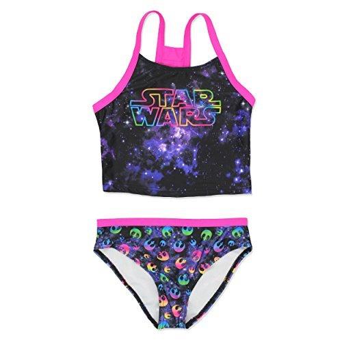 Star Wars Girls Swimwear Swimsuit (5-6, Black)