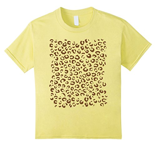 Ideas Magical Girl Costume (unisex-child Cheetah Print Shirt, Simple Halloween Costume Idea Gift 4)