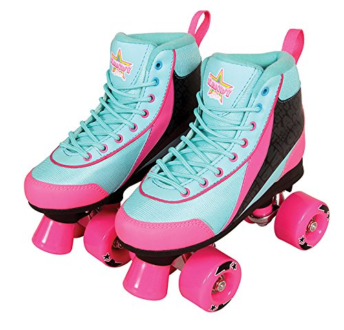 Kandy Skates Summer Days Teal and Pink Roller Skates - Size 2