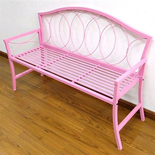 Amazoncom Gcd Austram Patio Bench 56 Inch Pink Garden Outdoor