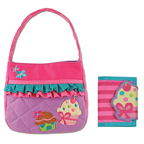 Stephen Joseph Quilted Cupcake Purse and Cupcake Wallet Combo - Gifts for Girls by Stephen Joseph