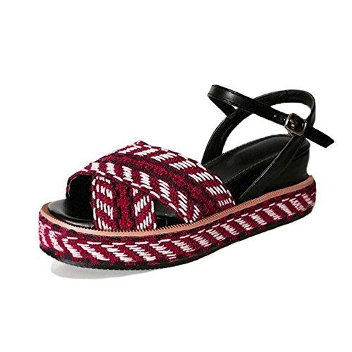 fd868c55 Zapatos de mujer Sandalias de verano Cuñas Plataforma Tacones altos  Comodidad al aire libre Sandalias deportivas